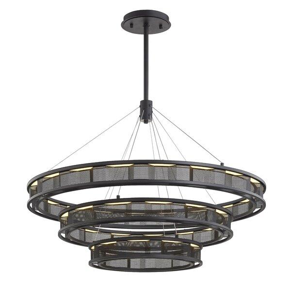 Manrique 3-Light LED Unique / Statement Tiered Chandelier by Wrought Studio Wrought Studio