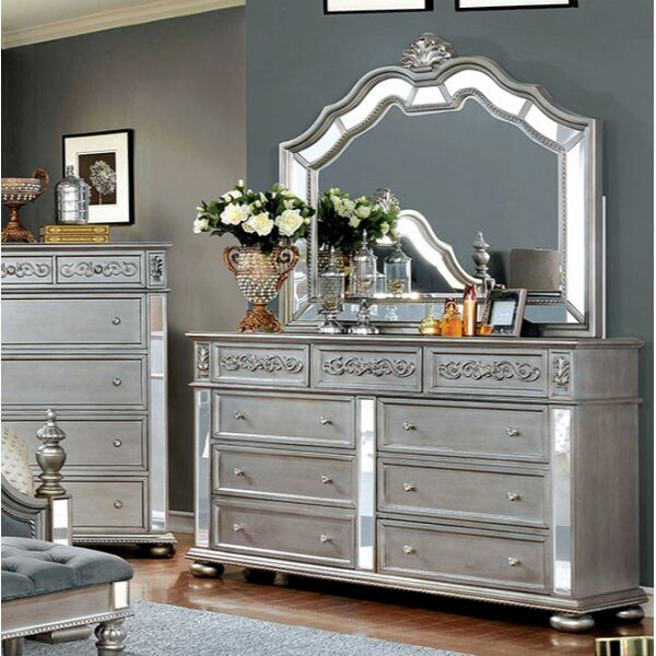 Terrence Arched Dresser Mirror by Rosdorf Park