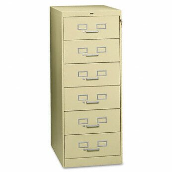 Tennsco Six-Drawer Multimedia Filling Cabinet by Tennsco Corp.