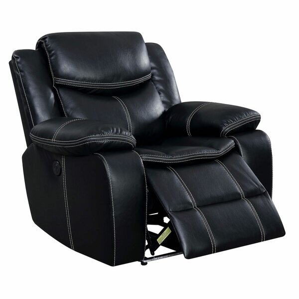 Moundville Leather Power Recliner By Latitude Run