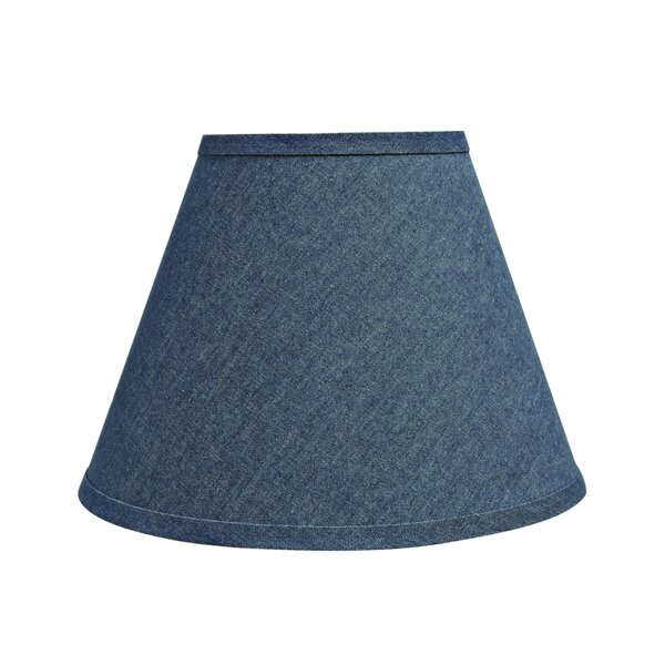 9 H Denim Fabric Empire Lamp Shade ( Spider ) in Dark Blue