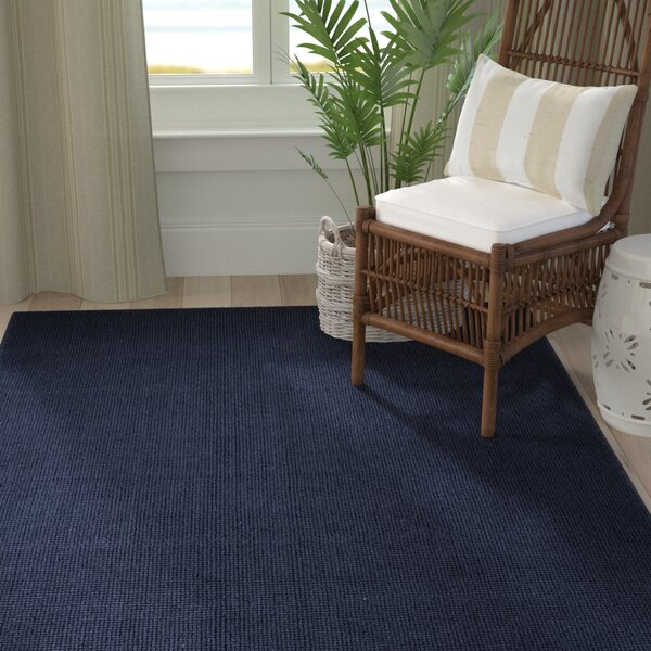 Dionne Hand-Tufted Navy Area Rug by Bayou Breeze