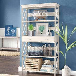 Buy luxury Gracelynn 5 Tier Standard Bookcase ByBeachcrest Home