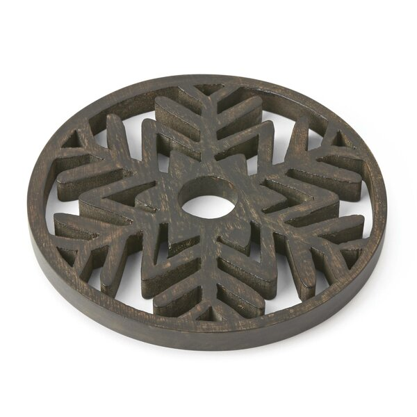 Alpine Wood Star Snowflake Trivet by Lenox