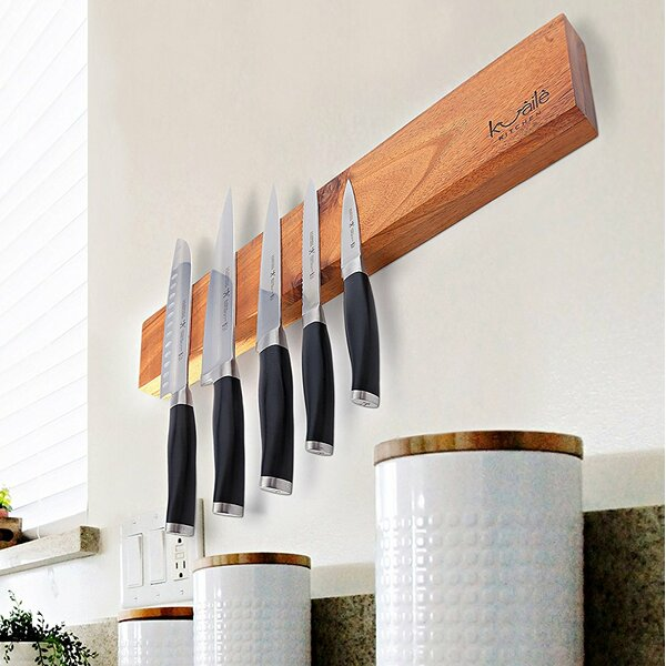 18 Wood Magnetic Cutlery Storage by KUAILE KITCHEN