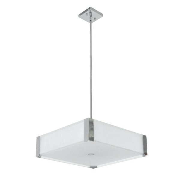 Judd 4 - Light Shaded Square / Rectangle LED Chandelier By Latitude Run