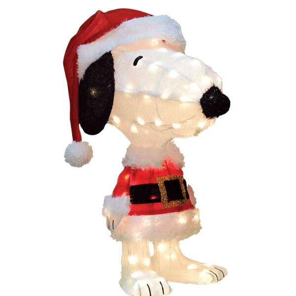 Peanuts Snoopy in Santa Suit Christmas Lighted Display by The Holiday Aisle
