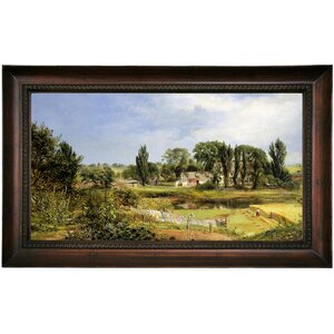 'Long Island Homestead Study from Nature 1859' Framed Print on Canvas by Historic Art Gallery
