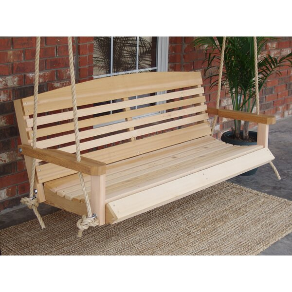 Molly Cedar American Rope Porch Swing by Millwood Pines