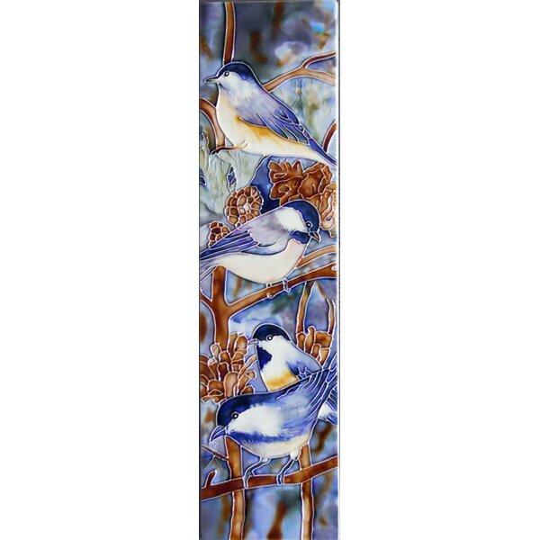 Chickadee Tile Wall Decor by Continental Art Center