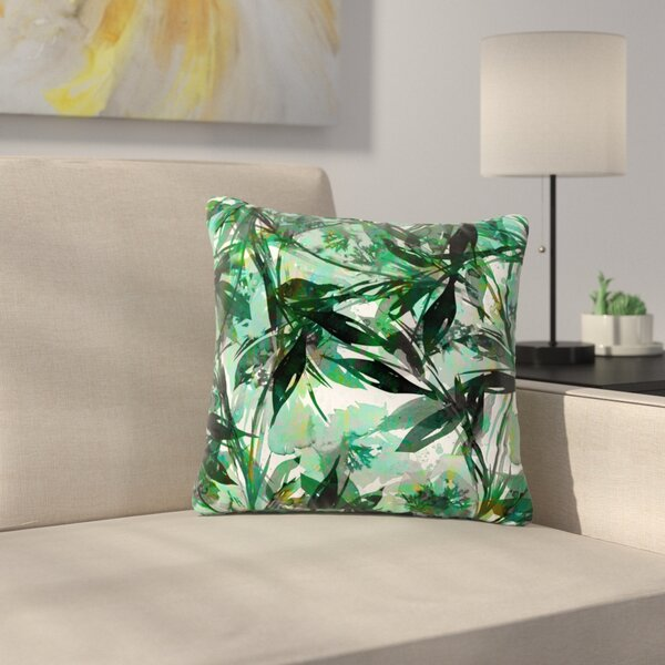 Ebi Emporium Floral Fiesta Floral Painting Outdoor Throw Pillow by East Urban Home
