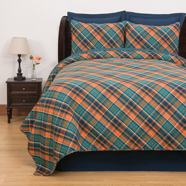Jemma Plaid Reversible Quilt Set by Millwood Pines