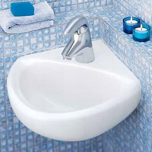 Comrade Minette Ceramic Specialty Wall-Mount Bathroom Sink with Overflow by American Standard