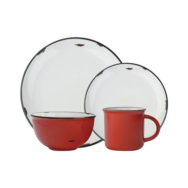 Tinware 4 Piece Place Setting, Service for 1 by Canvas Home