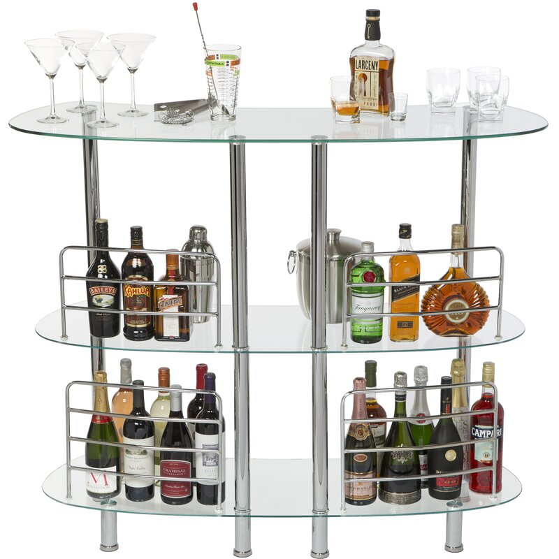 Idris Bar With Wine Table by Ebern Designs