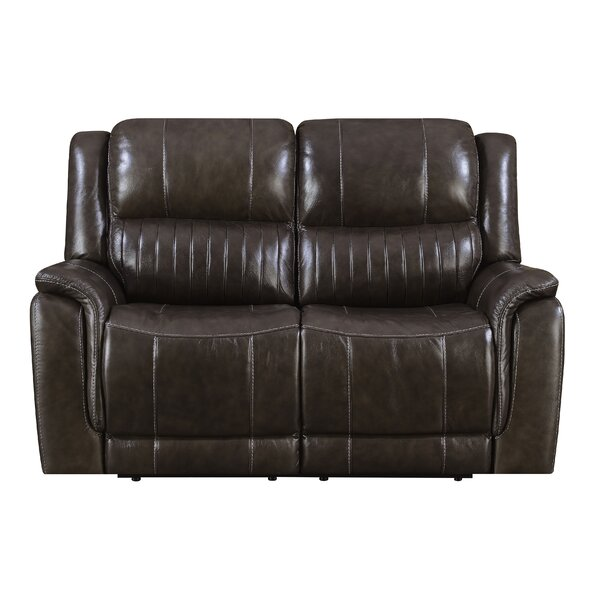 Guineau Top Grain Leather Reclining Loveseat by Red Barrel Studio