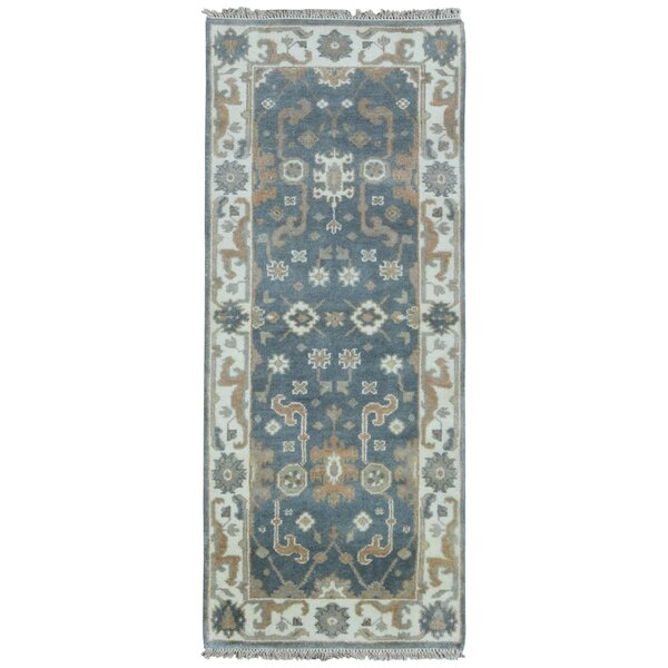 Mitchel Traditional Vegetable Dye Rectangle Hand Woven Wool Blue/Beige Area Rug by Darby Home Co