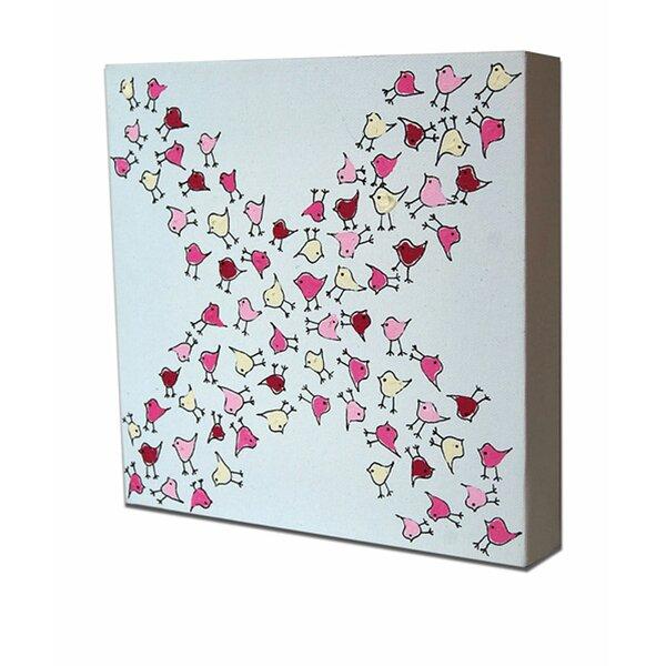 Lotsa X Birdies Original Canvas Art by Cici Art Factory