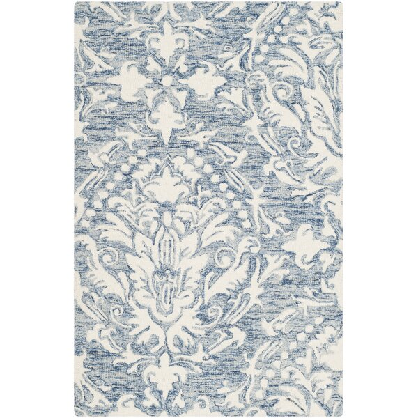 Jahiem Hand Tufted Wool Blue Area Rug by Bungalow Rose