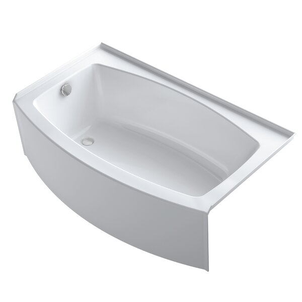 Expanse Curved 60 x 30 Tile In Soaking Bathtub by