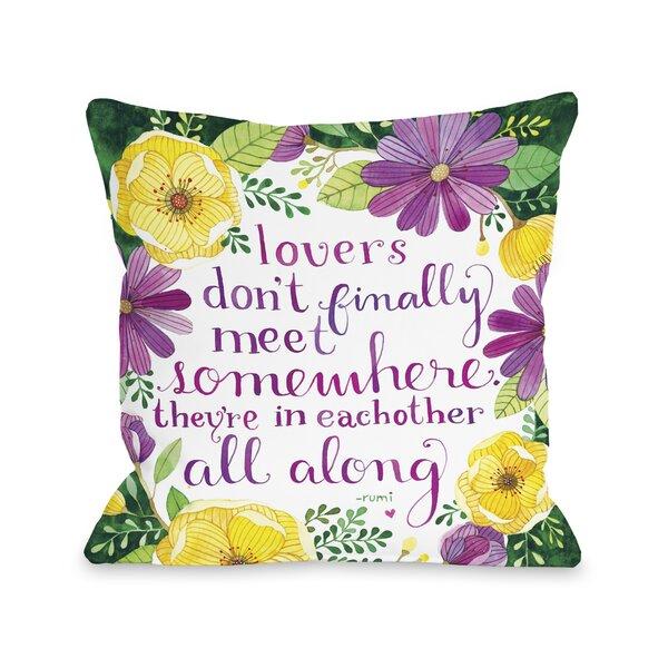 Lovers Meet Florals Throw Pillow by One Bella Casa