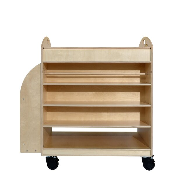 Maker S Double Sided 4 Compartment Teaching Cart With Casters By Wood Designs.