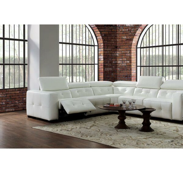 #1 Bulkley Leather Reclining Sectional By Orren Ellis Coupon
