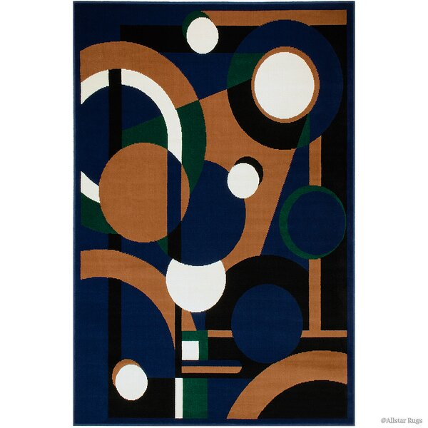 Hand-Woven Navy Area Rug by AllStar Rugs