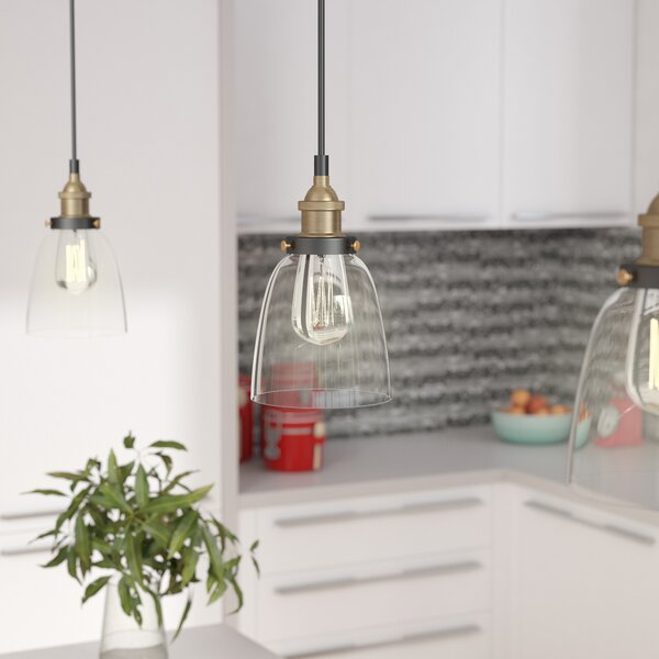 Bundaberg 1-Light Cone Pendant by Mercury Row