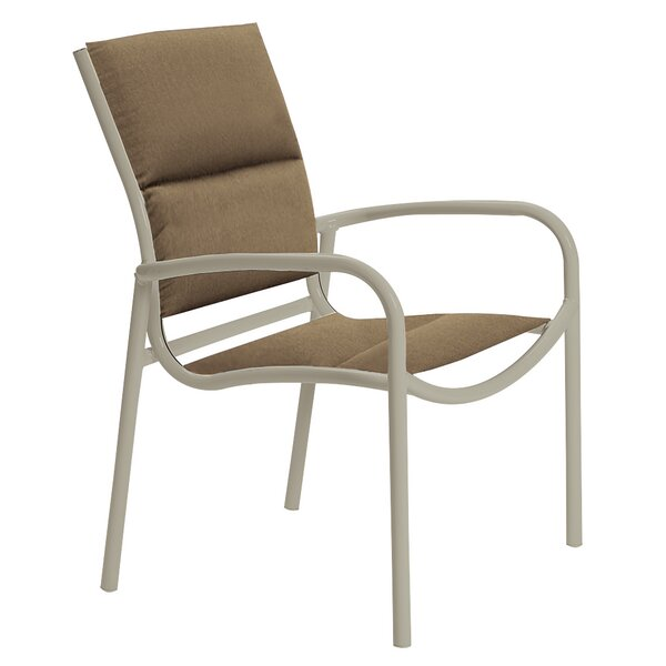 Millennia Stacking Patio Dining Chair with Cushion by Tropitone