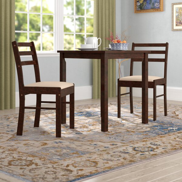 Clinger Pilaster Designs 3 Piece Dining Set by Winston Porter