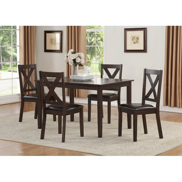 Fitzsimmons 5 Piece Traditional Style Dining Set by Winston Porter