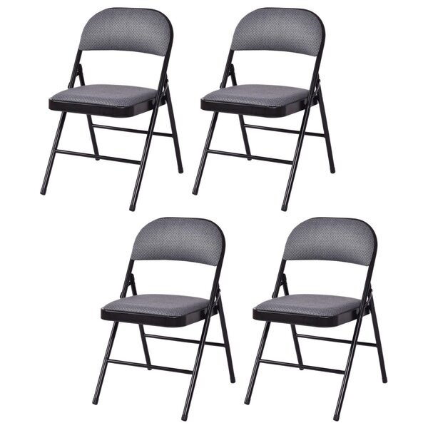 Fabric Padded Folding Chair (Set of 4) by Costway