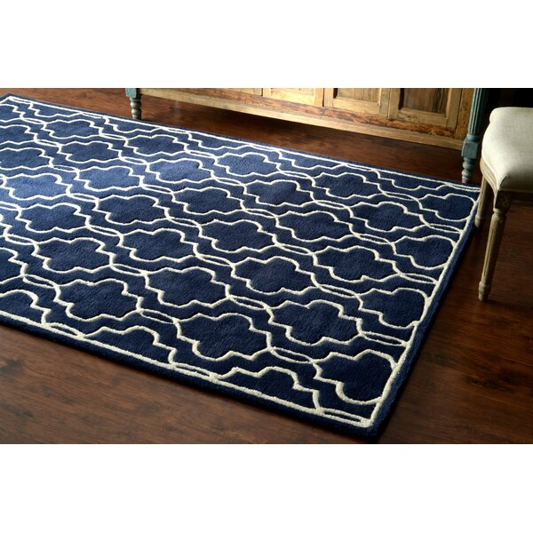 Venice Hand-Tufted Wool Dark Blue Area Rug by nuLOOM