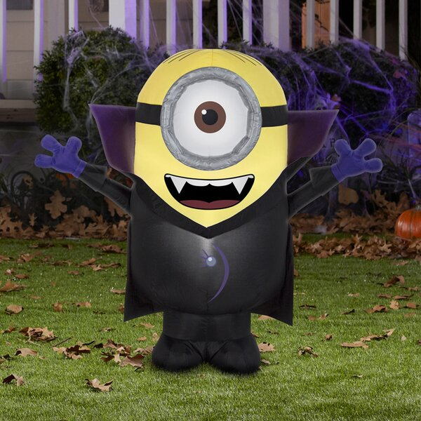 Gone Batty Minion Inflatable by The Holiday Aisle