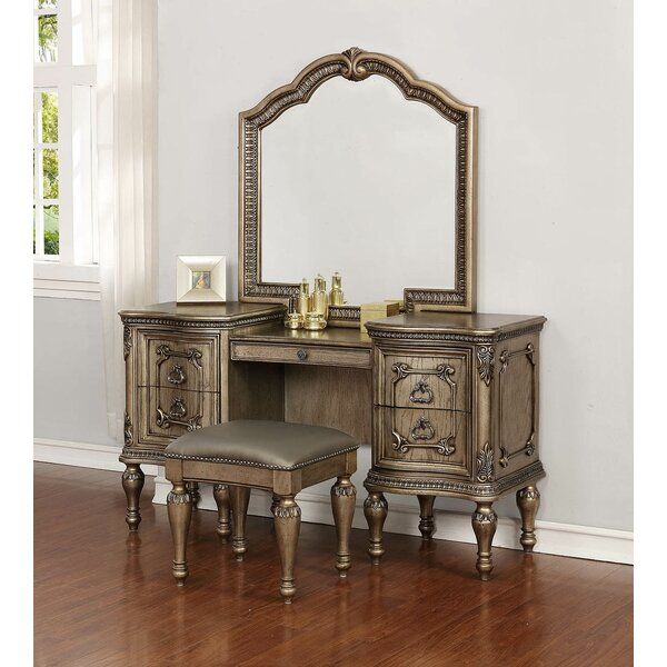 Coalson Vanity with Mirror by Astoria Grand