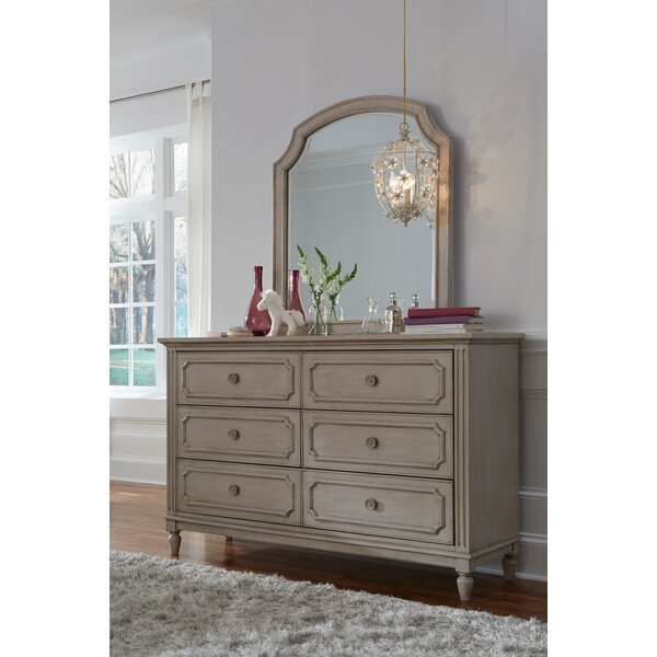 Alaina 6 Drawer Double Dresser with Mirror by One Allium Way