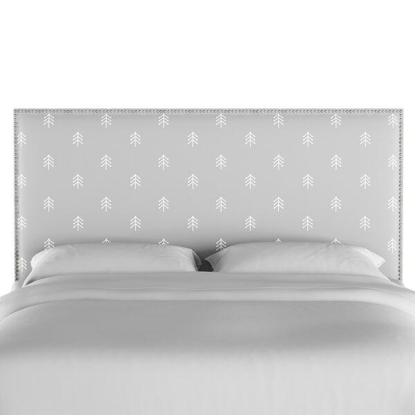 Forcade Nail Button Border Upholstered Panel Headboard by Loon Peak
