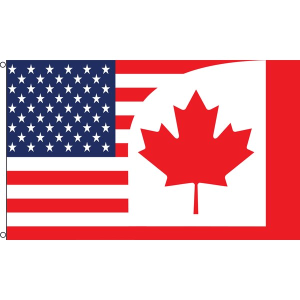 USA Canada Combination Traditional Flag by Flags Importer