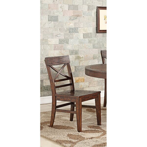 Anteus Rustic X Back Dining Chair (Set Of 2) By Gracie Oaks
