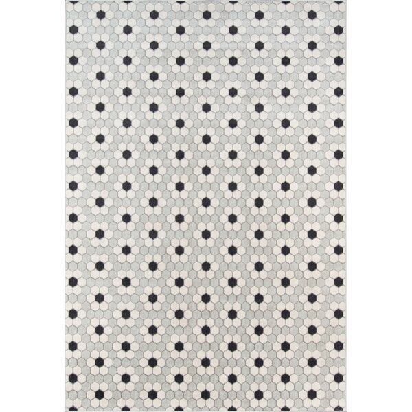 Hex Tile Gray Indoor/Outdoor Area Rug by Novogratz By Momeni