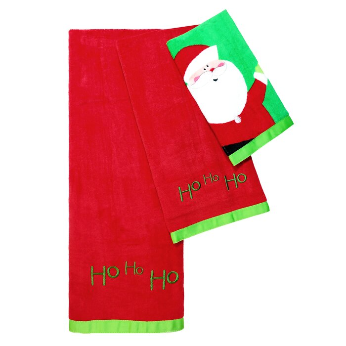 Christmas Tree 3 Piece 100% Cotton Towel Set