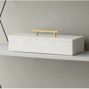 Marble Lidded Jewelry Box by Willa Arlo Interiors