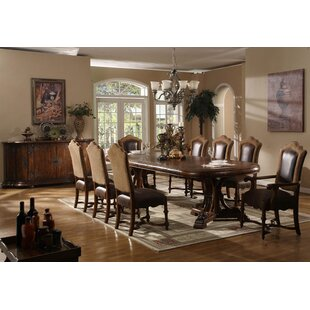 Review Burgundy Extendable Dining Table by Eastern Legends