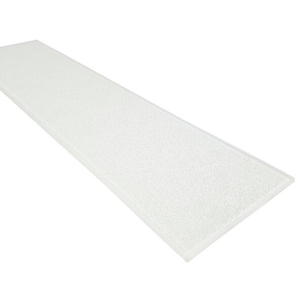 Monroe 4 x 16 Glass Field Tile in Siberian White by Abolos