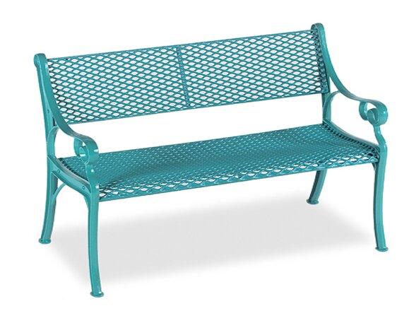 Love Seat Iron Garden bench by Wabash Valley
