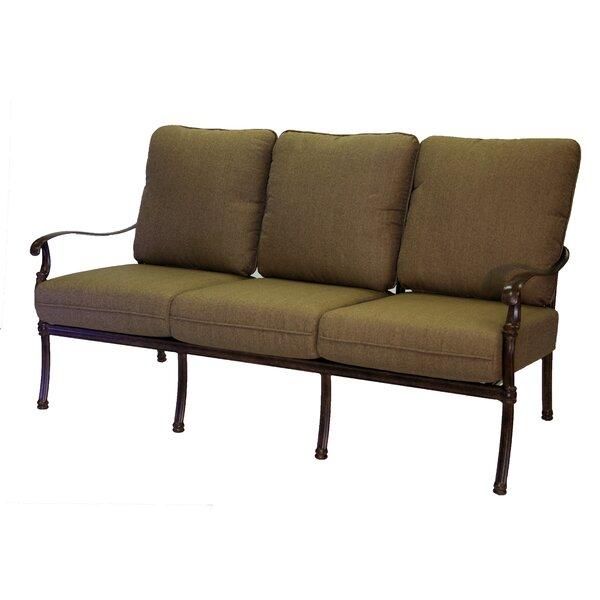 Battista Patio Sofa with Cushions by Fleur De Lis Living