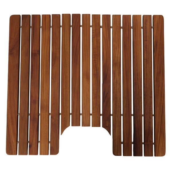 Michaela Genuine Sold U-shaped Teak Wood Non-Slip Contour Mat