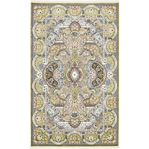 Quince Green/Blue Area Rug by Astoria Grand