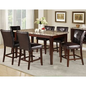 Wonderful Castle Heights Marble Counter Height Dining Table